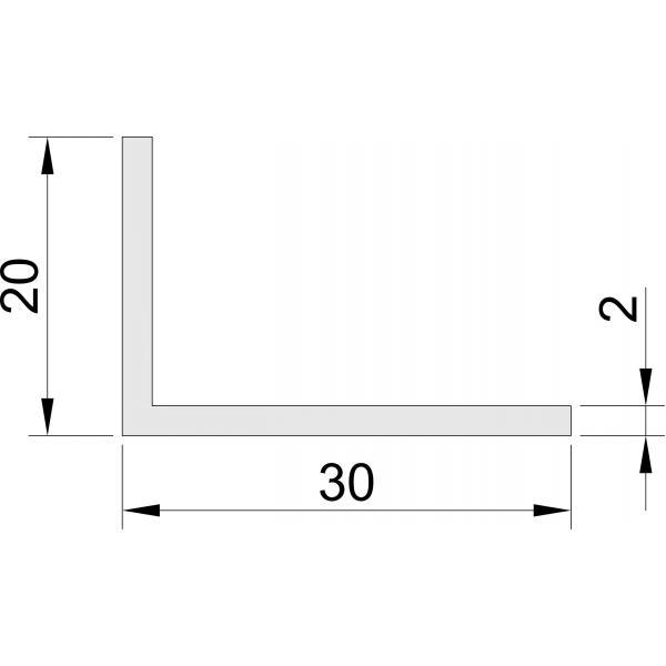 Hoeklijn 20x30 mm Hoeklijnen