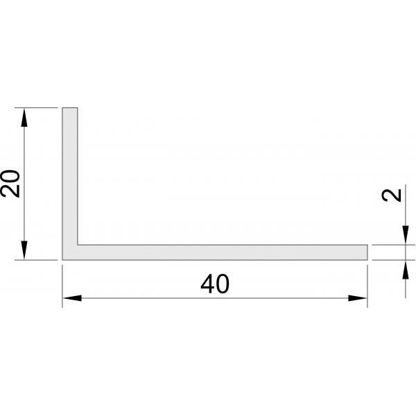 Hoeklijn 20x40 mm Hoeklijnen