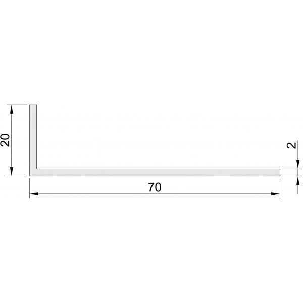 Hoeklijn 20x70 mm Hoeklijnen