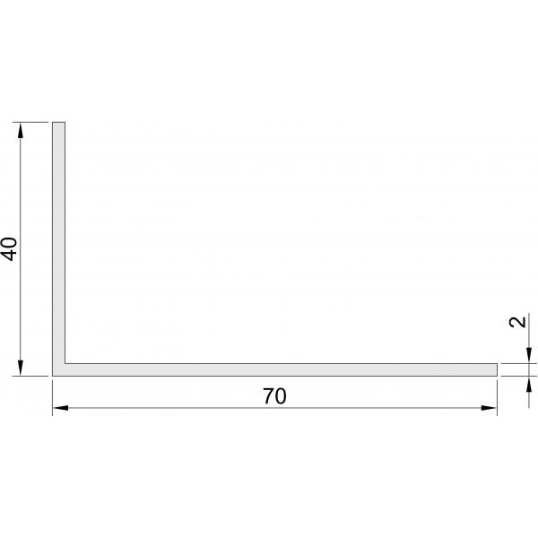 Hoeklijn 40x70 mm Hoeklijnen